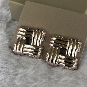 Avon vintage 1986 basket weave earrings